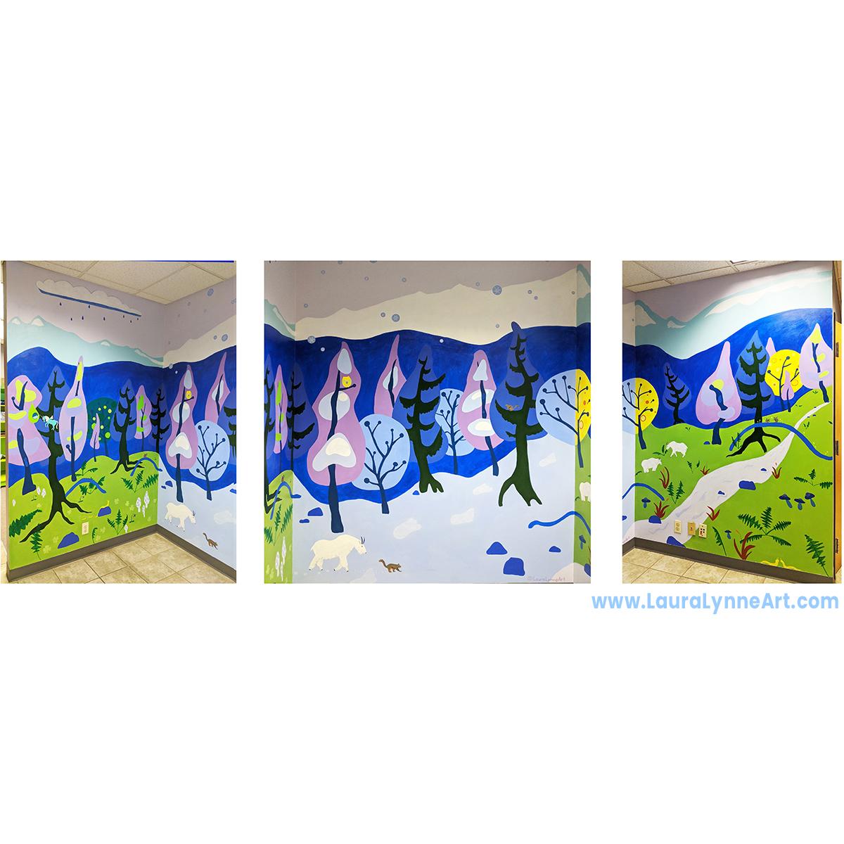 Three Seasons Mural, Yetee Warehouse, Auora, IL
