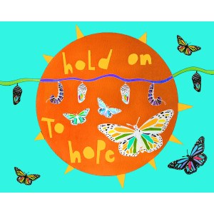 hold on to hope quote wall art print
