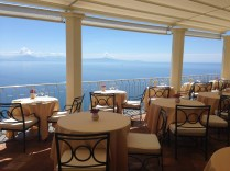 One of the restaurants at Hotel Caruso.