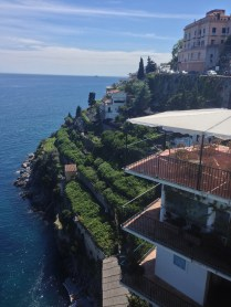 Rooms flow down the cliff at the Santa Catherina.