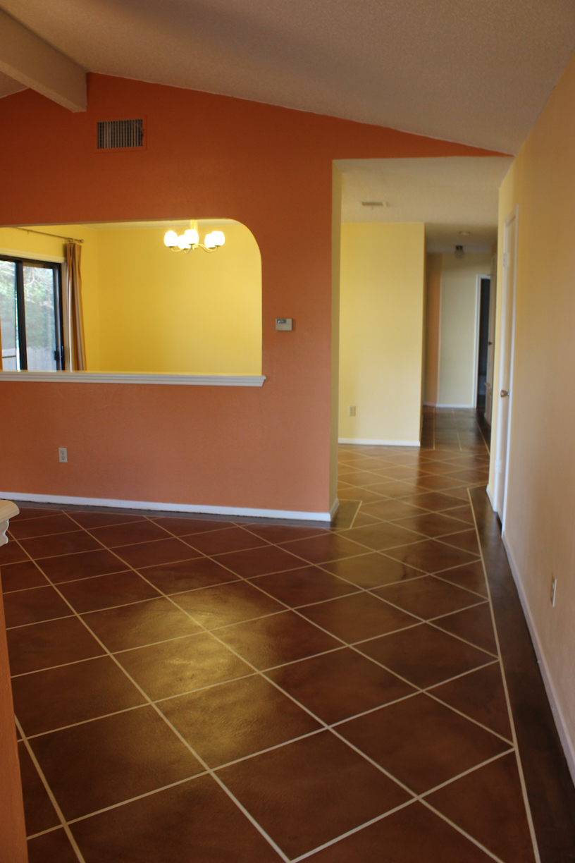 An update on our DIY stained concrete floors  Laura Makes