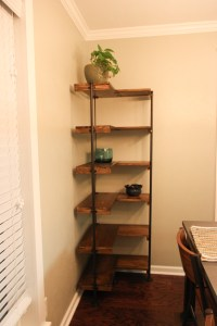 Making a rustic industrial free-standing corner shelf set ...