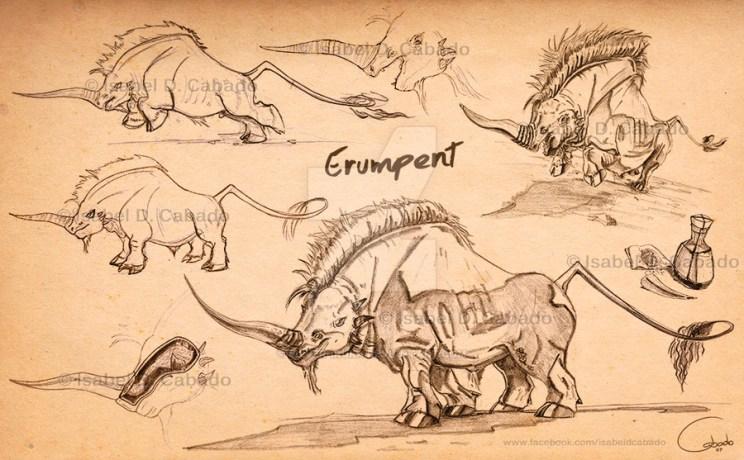 erumpent_sketches_by_silver_iruka-d7ft15k