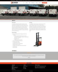 Carson Material Handling website Laura McFalls Design