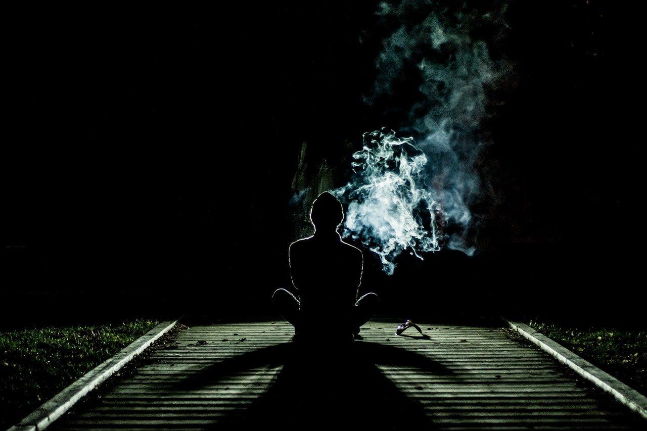 smoke, human, alone