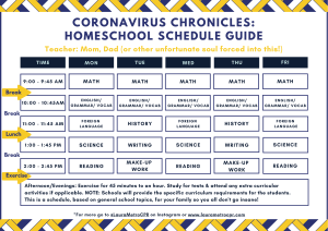 Coronavirus Chronicles Homeschool Schedule Guide