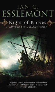 Night of Knives by Ian C. Esslemont (Bantam cover)