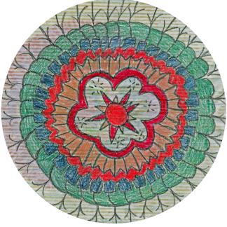 Mandala I made as a kid.
