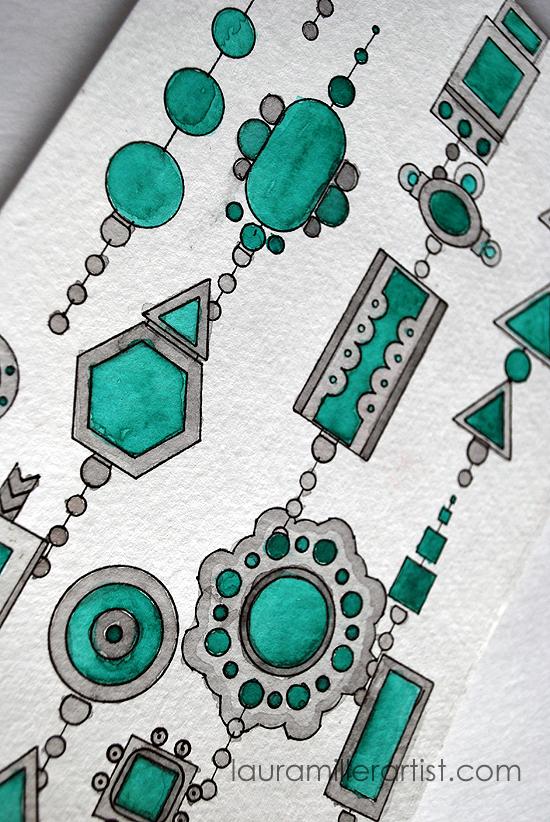 3turqoise jewelry sketch