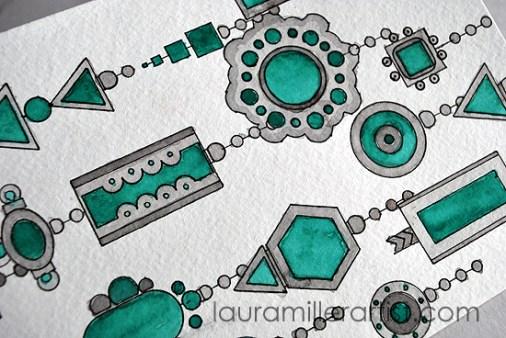 4turqoise jewelry sketch