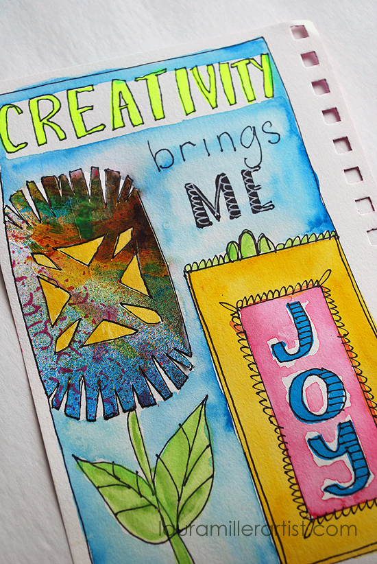 1wycinanki art journal words
