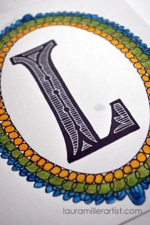 3illuminated monogram letters