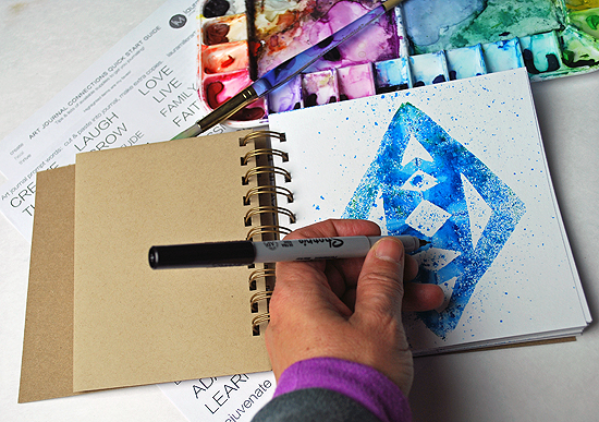 20art journal multi color