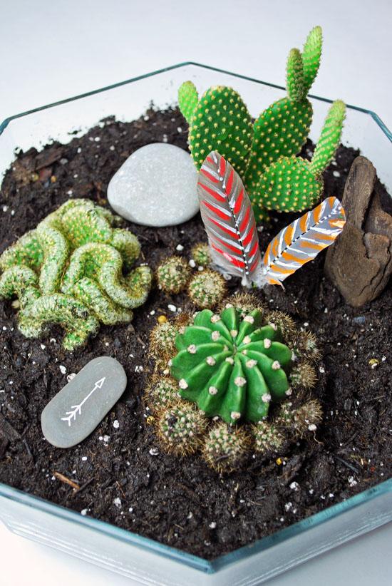 2tribal cactus mini garden