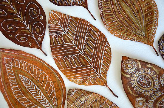 9diy fall leaf doodle