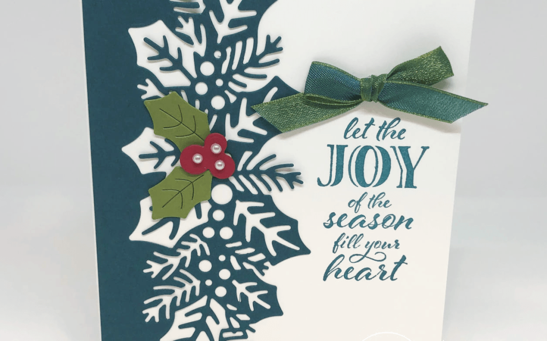 Bee Creative Tutorial – Wrapped in Christmas Joy Card