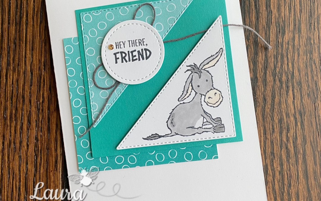 Darling Donkeys Hey There, Friend Card!