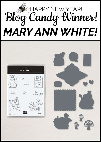 New Year Blog Candy Winner! Mary Ann White