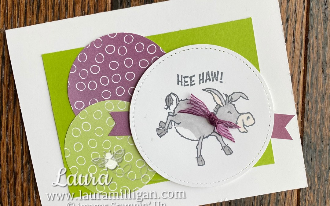 Darling Donkeys Hee Haw! Card