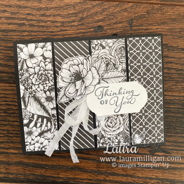 Thinking of You Card by Laura Milligan using the True Love Designer Series Paper from Stampin' Up!