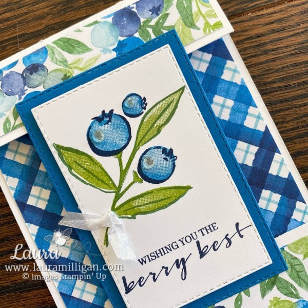 create this Berry Blessings card by Laura Milligan, Stampin' Up! Saleabration Earn for Free