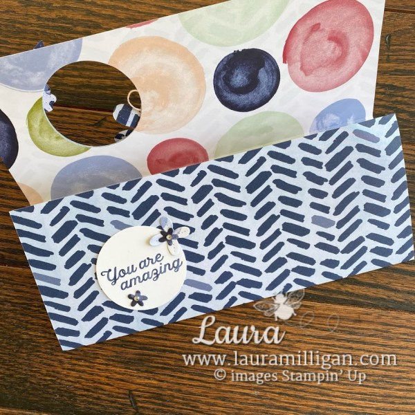 create this slimline card with Berry Blessings bundle from Stampin' Up! Laura Milligan, demonstrator I'd Rather Bee Stampin'