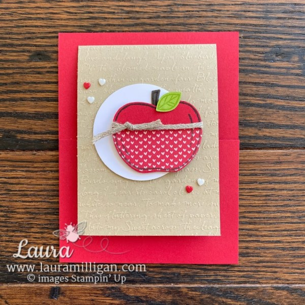 Apple Builder Get Well card by Laura Milligan Stampin' Up Demonstrator Million Dollar Achiever