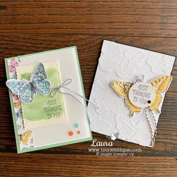Butterfly Brilliance Card Duo Facebook Live Take Two Laura Milligan