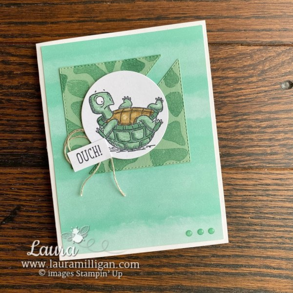 Create this get well card by Stampin' Up! Laura Milligan demonstrator Earn Free Product