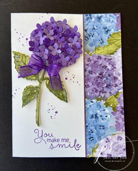 Hydrangea Hill You Make Me Smile Card - Laura Milligan