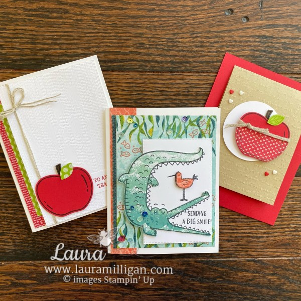 Trio of Cards for Facebook Live, Laura Milligan