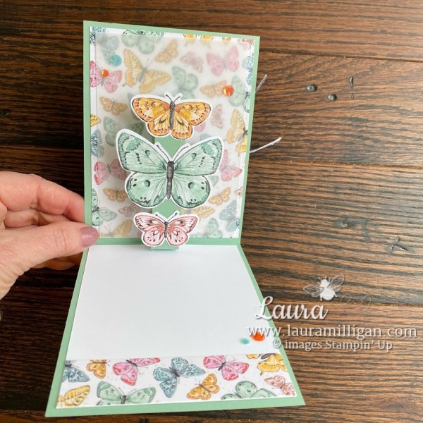 butterfly brilliance bundle by Laura Milligan pop up card Stampin' Up