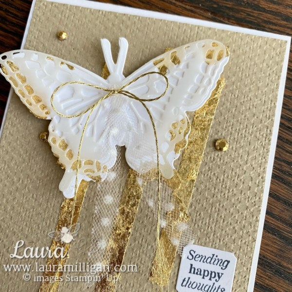 gilded leafing butterfly brilliance bundle stampin up! Laura Milligan demonstrator