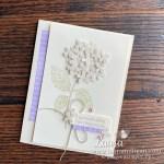 make a hydrangea haven handmade card by Laura Milligan Demonstrator Stampin