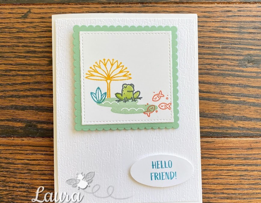 Bee Creative Tutorial – Oh Snap! Hello Friend Card