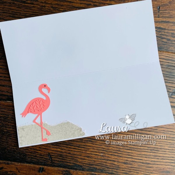 Friendly Flamingo Slimline Card by Laura Milligan Stampin' Up!