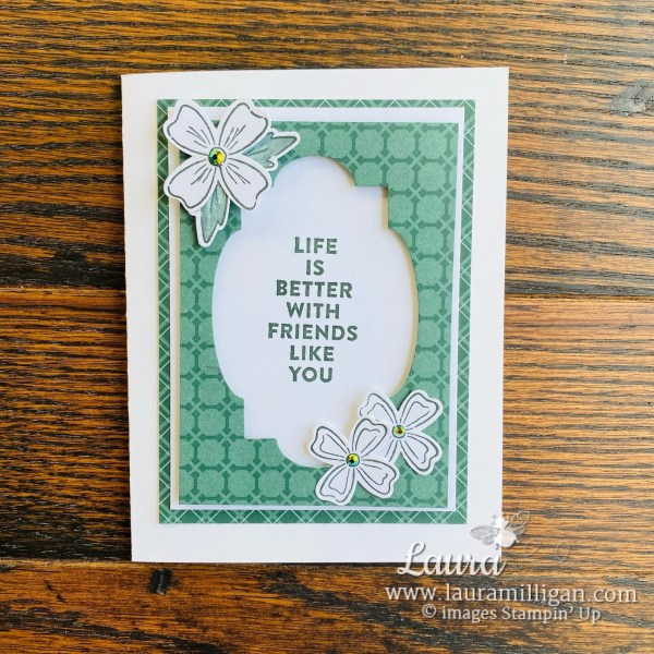 Laura Milligan Stampin' Up! 2021-2023 In Color Evening Evergreen and New Product Samples - Id Rather Bee Stampin' Facebook Live