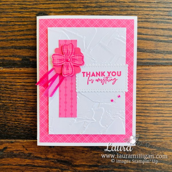 Laura Milligan Stampin' Up! 2021-2023 In Color Polished Pink and New Product Samples - Id Rather Bee Stampin' Facebook Live