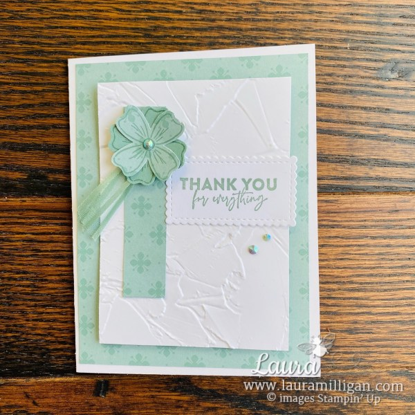 Laura Milligan Stampin' Up! 2021-2023 In Color Soft Succulent and New Product Samples - Id Rather Bee Stampin' Facebook Live