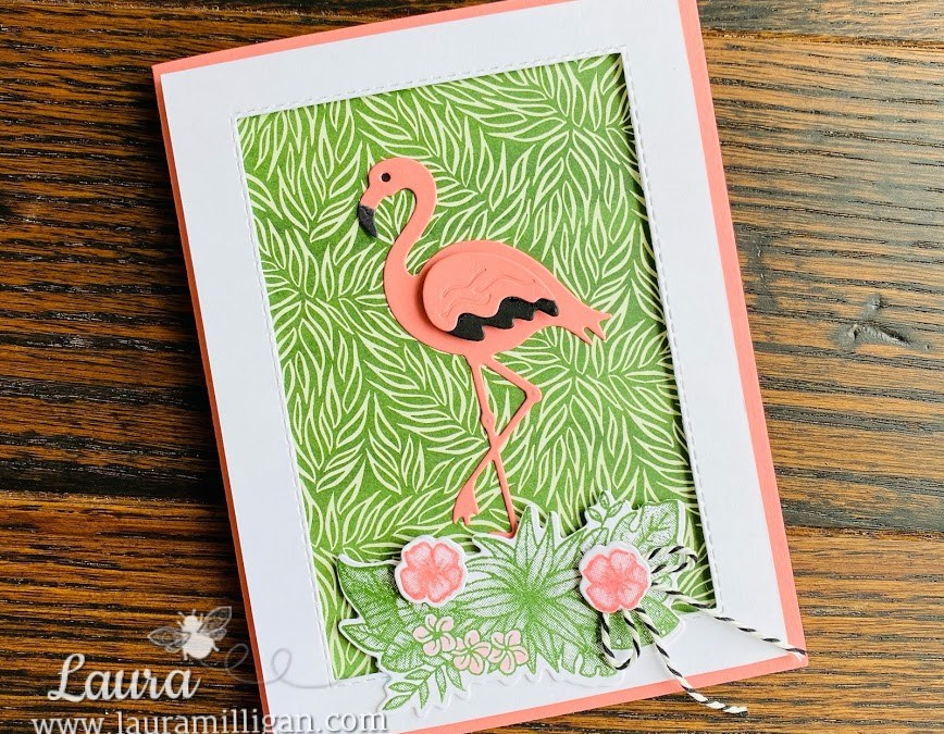 Bee Creative Tutorial – Friendly Flamingo Framed Card