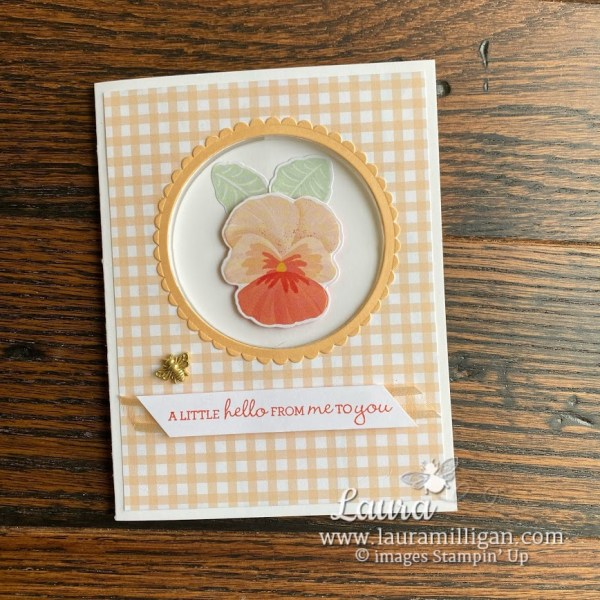 pansy patch stampin up laura Milligan earn Free product