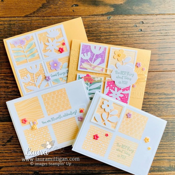 All Squared Away - Simple to Stepped Up by Laura Milligan Stampin' Up! demonstrator