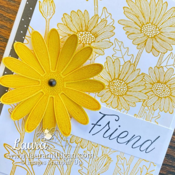 Daisy Punch handmade card Stampin' Up! by Laura Milligan earn free product