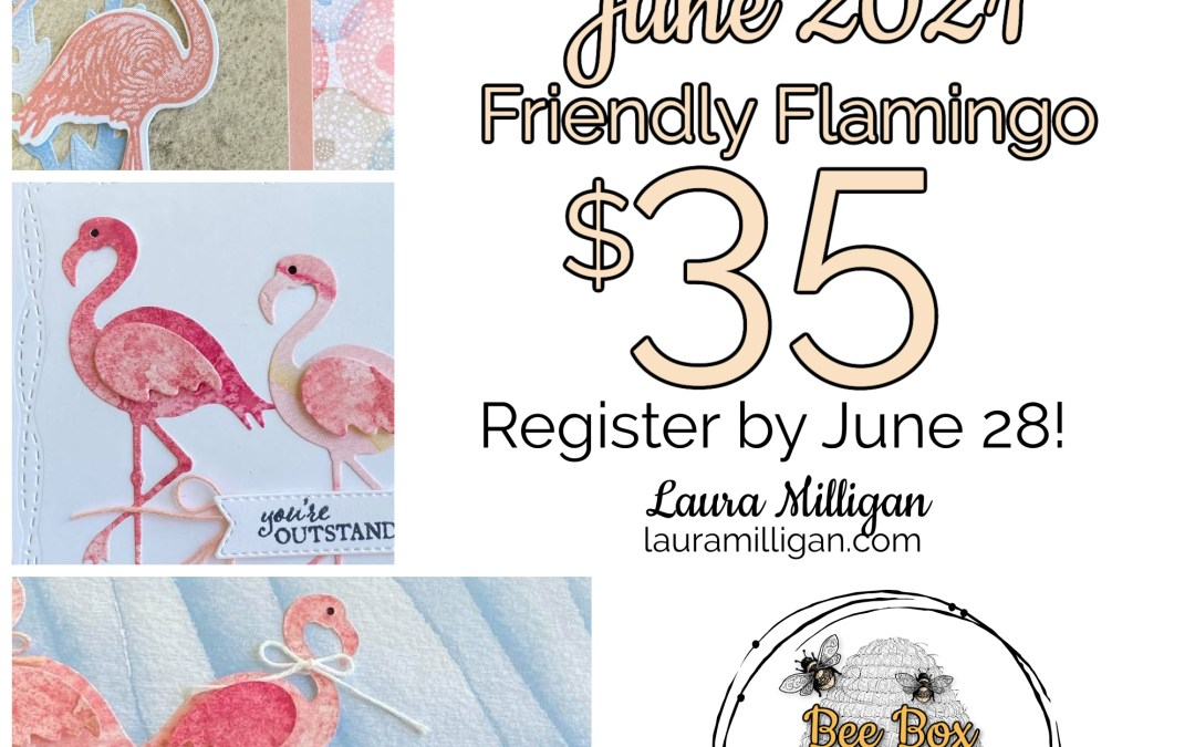 My June 2021 Bee Box – Friendly Flamingo – By Popular Demand!