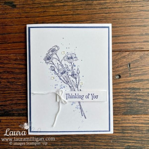 Quiet Meadow hand stamped card simple cardmaking Laura Milligan
