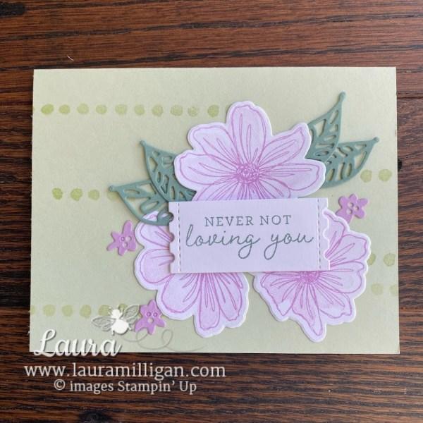 art in bloom bundle Stampin' Up! handmade card create Laura Milligan earn free product