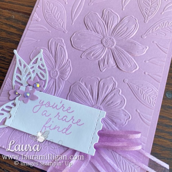 art in bloom hand made card by Laura Milligan Stampin' Up! demonstrator