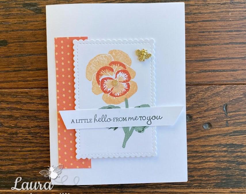 Bee Creative Tutorial – Pansy Petal Hello Card