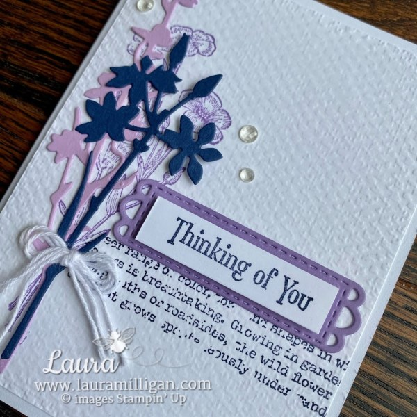 quiet meadow hand stamped card Meadow Dies by Stampin' Up! Laura Milligan