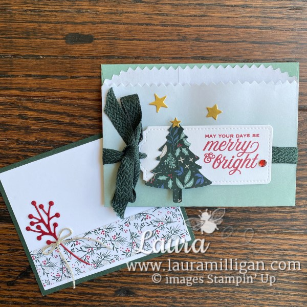 Laura Milligan - Gift Card Pocket with In Color Ombre Gift Bags. Earn Free Bees with Purchase